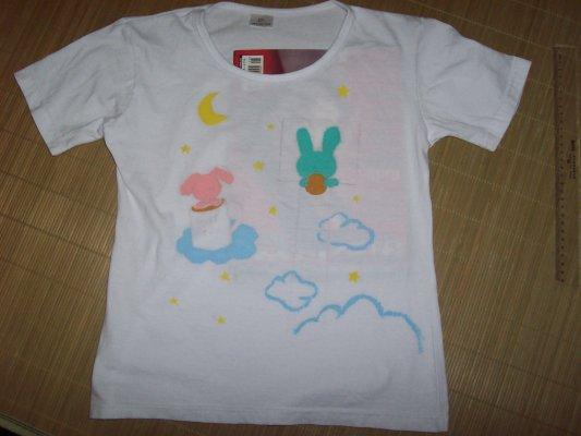 儿童t恤衫手绘图案